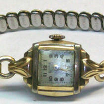 1960's Antique Vintage Roamer Women's Gold Watch 17 Jewels Swiss made Photo